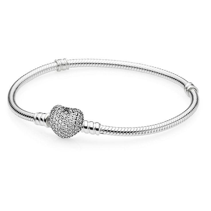 Pandora Armband Pavé Herzverschluss 590727CZ