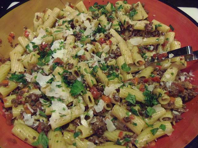 ... Kitchen By Renee: Michale Symon's Rigatoni With Meat Sauce - My way