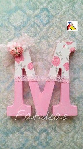27 best images about letras decoradas on pinterest initials car room and wooden letters - Letras decoradas scrap ...