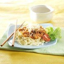 SPAGETI BOLOGNAISE http://www.sajiansedap.com/mobile/detail/16334/spageti-bolognaise