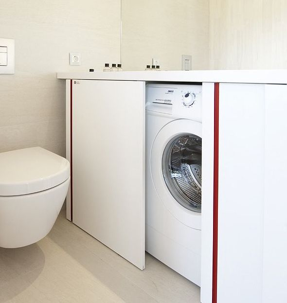 17 best images about bijkeukens on pinterest hidden laundry concealed laundry and laundry rooms - Mobile bagno con lavatrice ...