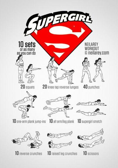 Train Like a Superhero|Neila Rey ~ Supergirl workout