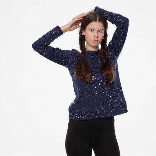 ThokkThokk TT1027 Box Sweater Midnight/Galaxy Woman aus 100% Baumwolle hergestellt // GOTS und Fairtrade zertifiziert