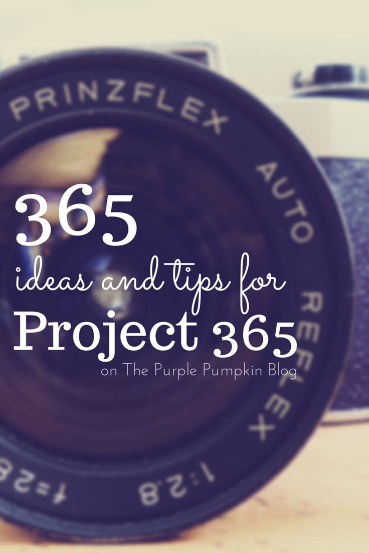 No need to be stuck on ideas for your photography! There are 365 Ideas and Tips for Project 365 to inspire you.