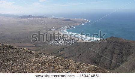 volcanic Coast Playa de Famara Surf Beech Lanzarote  Photography by MCHatch  http://www.shutterstock.com/sets/847059-lanzarote.html?rid=1525961
