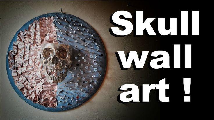 Skull wall art !  Skull challenge 2017