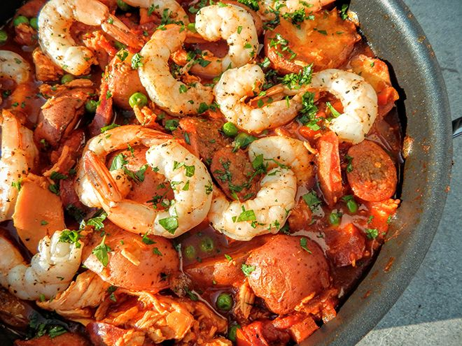 """Craig Jones spanish stew #recipe - this guy was crowned """"Grill Mayor"""" by The Food Network, so he really knows what he's talking about."""
