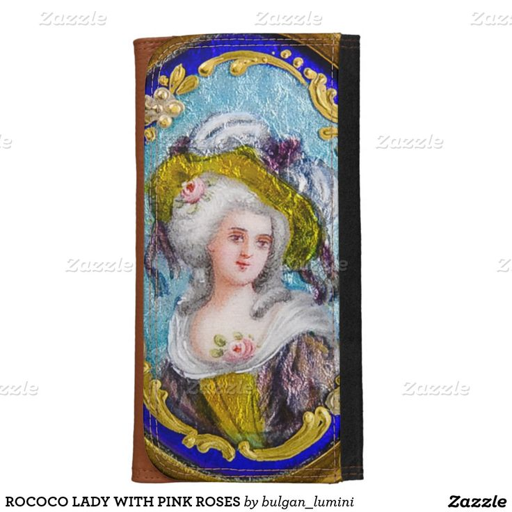 ROCOCO LADY WITH PINK ROSES WALLETS