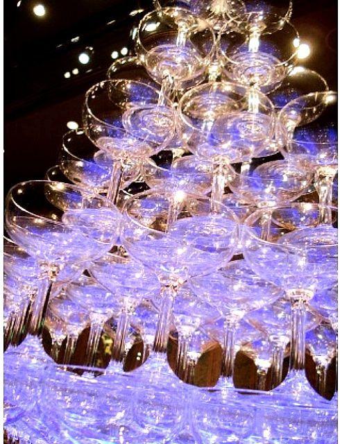 シャンパンタワー!