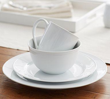 Great White Traditional Dinnerware #potterybarn