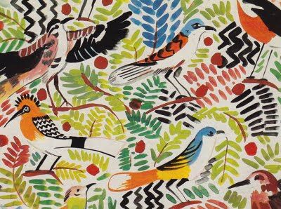 birds print, collier campbell