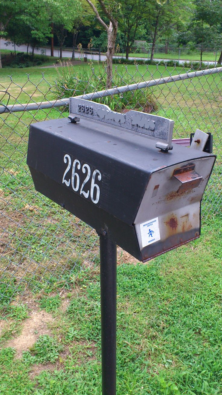 Midcentury Modern Mailbox Metro Atlanta  Doraville Modboxusa