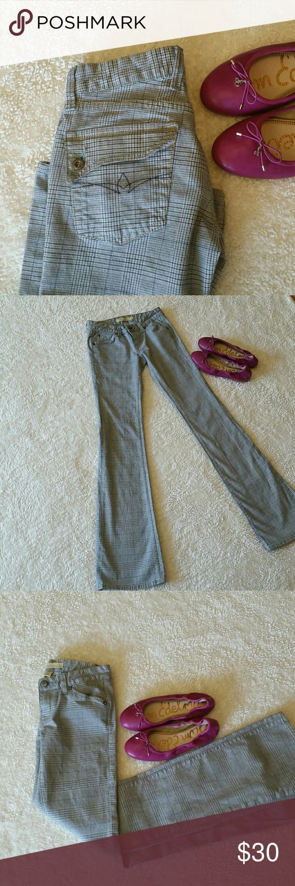 Agave Nectar Vaquera Sexy Flare plaid pants 25 Worn just a few times and laundered gently these retailed for $150 new. Really nice and cute. Agave Nectar  Pants Boot Cut & Flare