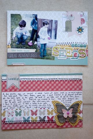 """How to make Project Life """"card"""" with paper pad"""