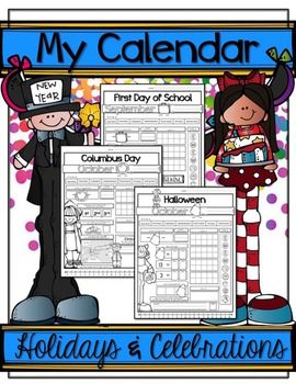 Holidays and celebrations are a GREAT time to work on calendar skills...plus a little word work & math!
