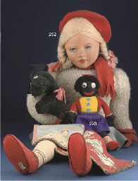 A Dean's Rag Book Princess doll. Made in England-Regd. Design 820203 39 inches.