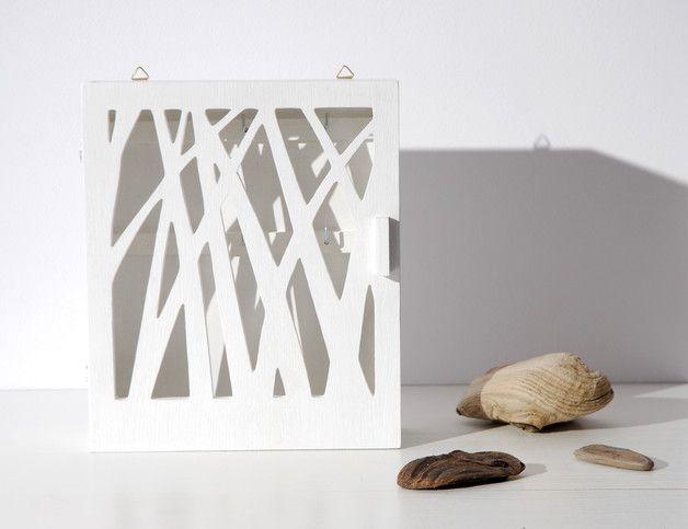 """Skrzynka na klucze """"Natura"""" biała - Silva-Design-Drewniane-Dekoracje - Szafki na klucze"""