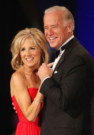 Handsome couple. Vice President Joe Biden and his wife Jill dance during the Commander in Chief's Ball.