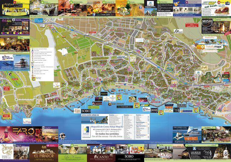 mapa CostaAdeje Russian wwwfutenerifecomcostaadeje FU