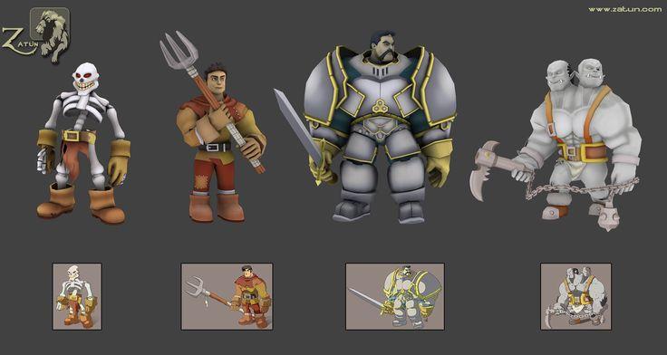 Unity Asset 9 Cartoon Characters : D character models unity assets