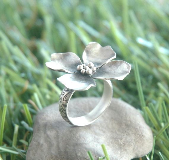 Dogwood Ring in Sterling Silver by sophiapip