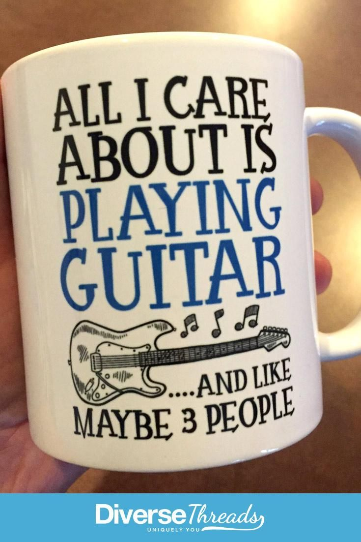 All I care about is playing guitar ...and like maybe 3 people - mug / cup. Love playing guitar? This is the perfect mug for you. Available here - https://diversethreads.com/products/all-i-care-about-is-playing-guitar-mug