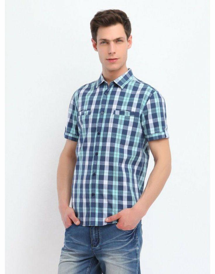 Κοντομάνικο καρό πουκάμισο 31,50€ #shortsleeved #shirt #men #fashion