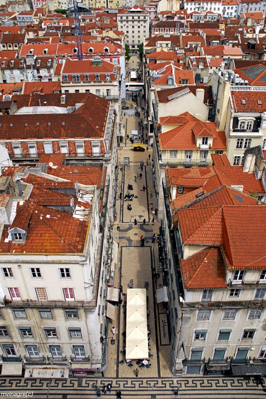 Lisboa downtown, close to the Tagus River and the Atlantic Ocean - Lisbon, Portugal