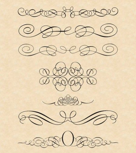 calligraphic style ornaments thumb