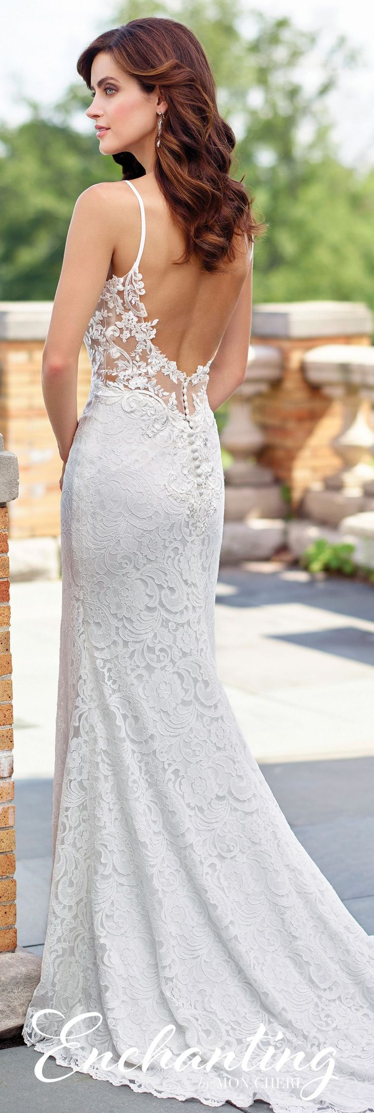 Best 25 spaghetti strap wedding dress ideas on pinterest for No back wedding dress