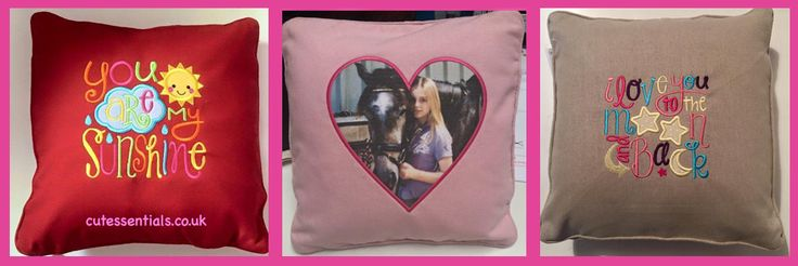 Embroider Pillows for Valentine's Day