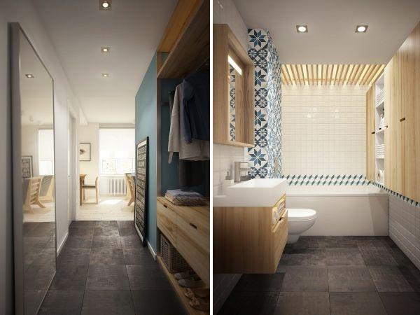 Дизайн однокомнатной квартиры 40 кв м – лучшие фото и проекты на 2016