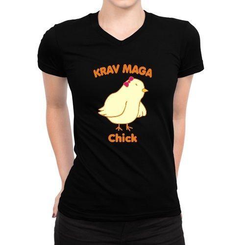 Krav Maga Chick Women V-Neck T-Shirt