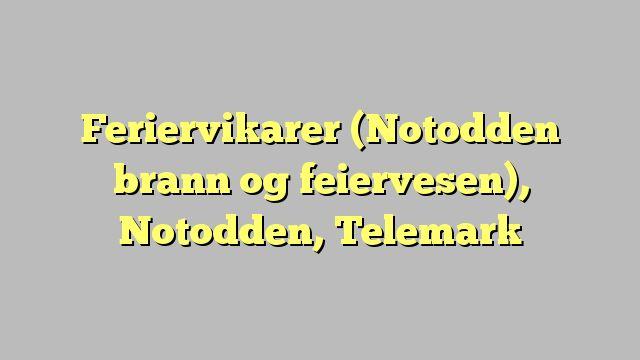 Feriervikarer (Notodden brann og feiervesen), Notodden, Telemark
