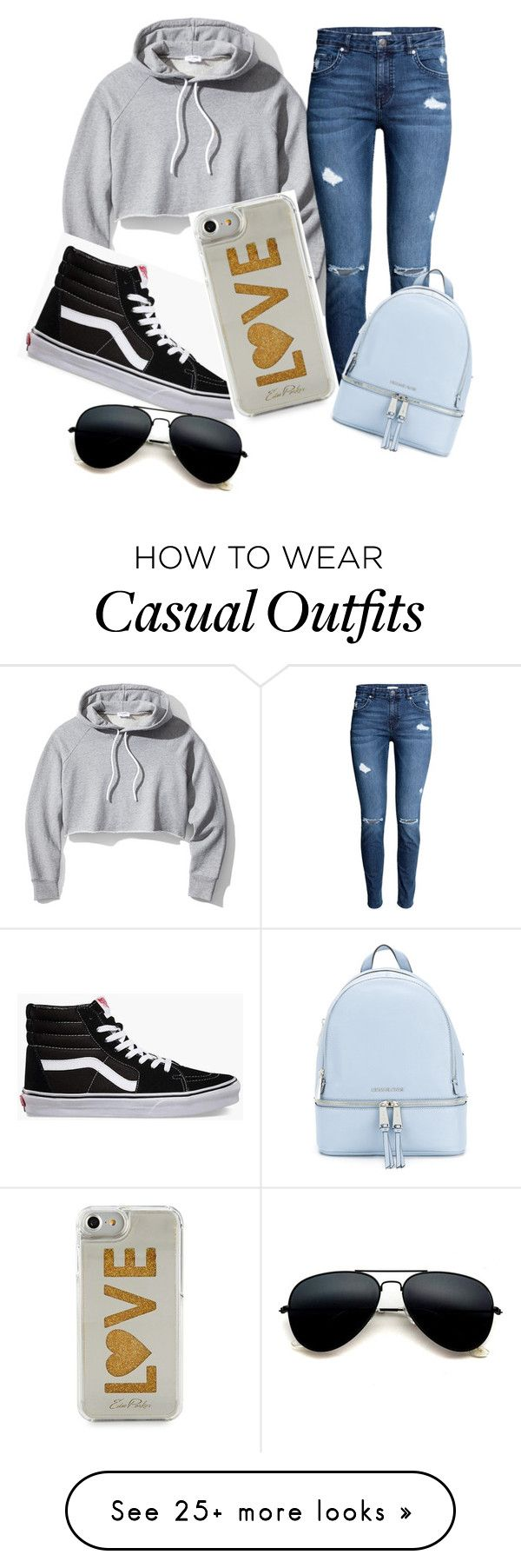 """""""Casual"""" by mycricket on Polyvore featuring Frame, Vans, Edie Parker and MICHAEL Michael Kors"""