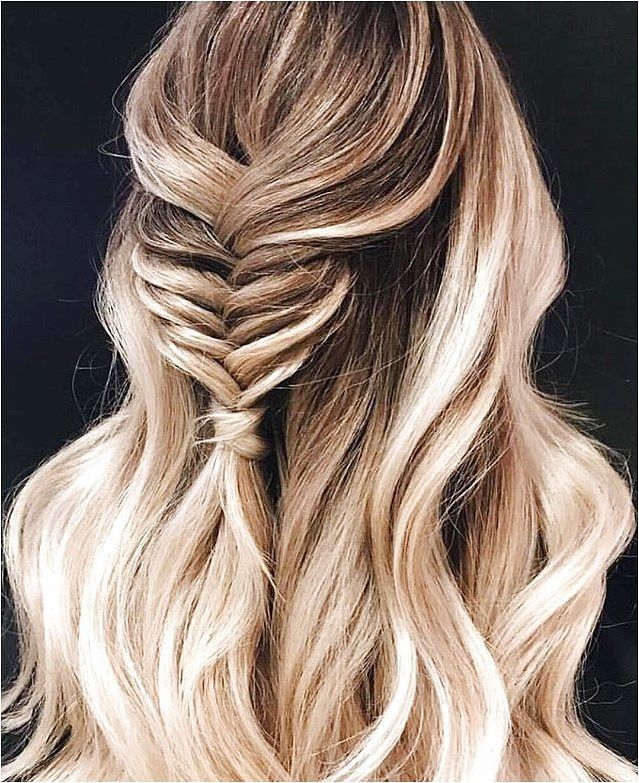 Fishtail braid half up half down  - click on the image or link for more details.