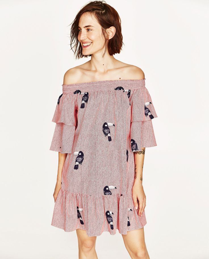 ZARA - WOMAN - OFF-THE-SHOULDER DRESS