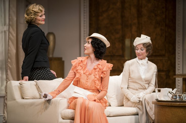 Tara Egan Langley, Caoimhe O'Malley and Belinda Lang in The Constant Wife by W. Somerset Maugham at the Gate Theatre. Photo by Pat Redmond.