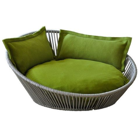 Siro Twist Ped Bed, Pea Green dog bed, designer dog bed, luxury dog bed,... Wish it was my size!