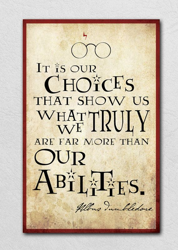 Albus Dumbledore inspirational quote 11x17  by NerdyKittenDesigns