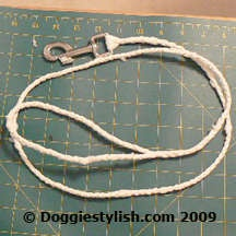 Upcycle plastic bags into a dog leash