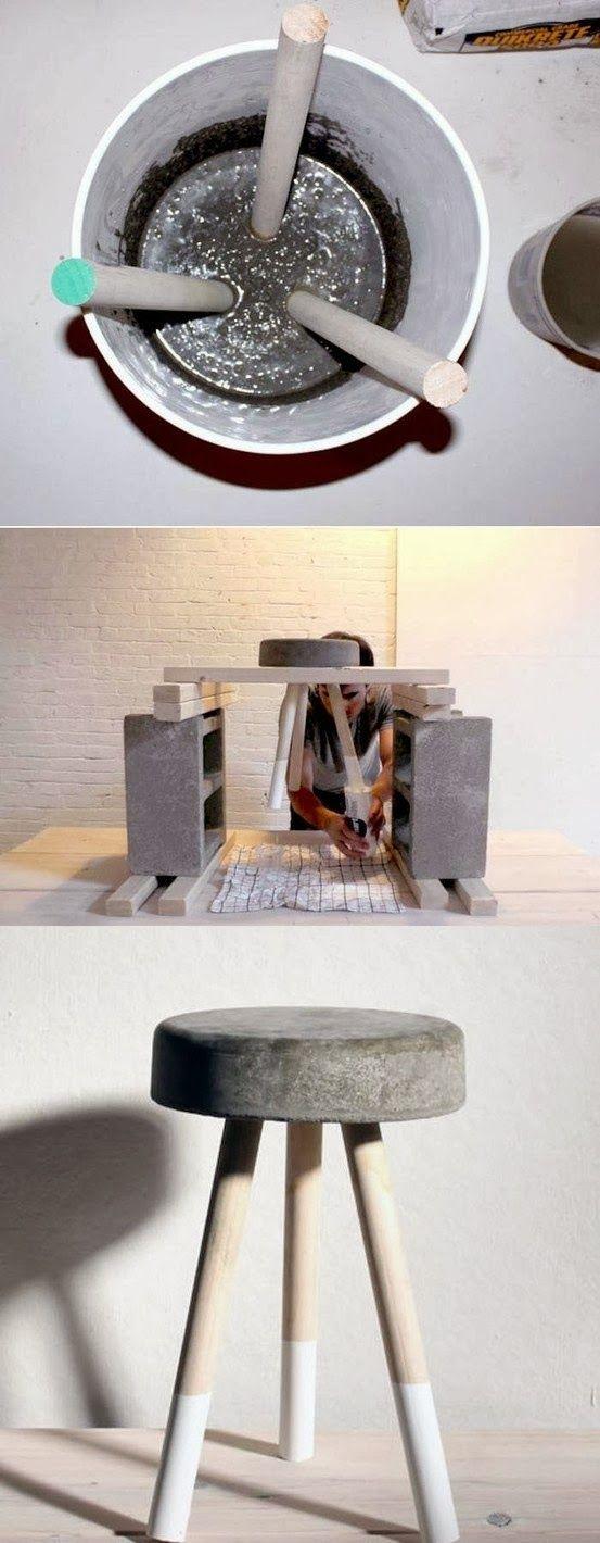 D.I.Y. Un taburete de cemento