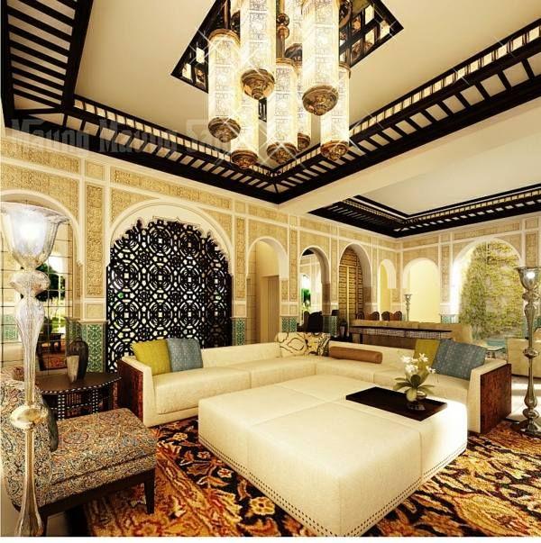 salon marocain glamour architecture ville Fes