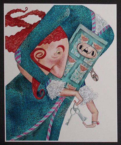 """Svetlana Akateva illustration for """"Baron Munchausen""""."""