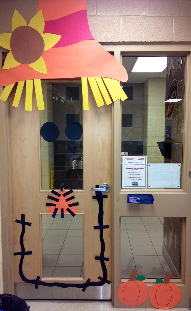 Scarecrow Door Decoration Classroom ~ Scarecrow door decoration school pinterest