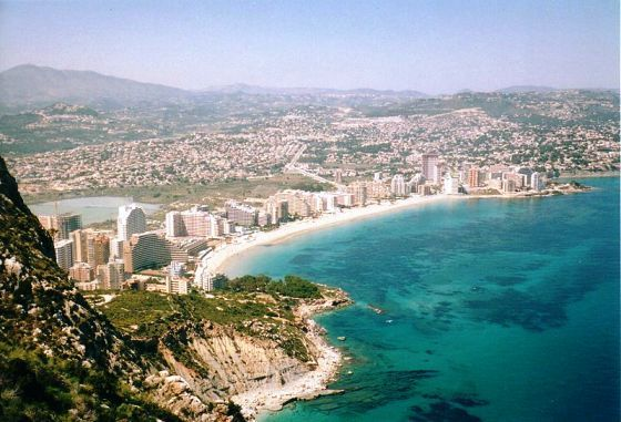 The horseshoe Bay of Arenal in Costa Blanca Spain