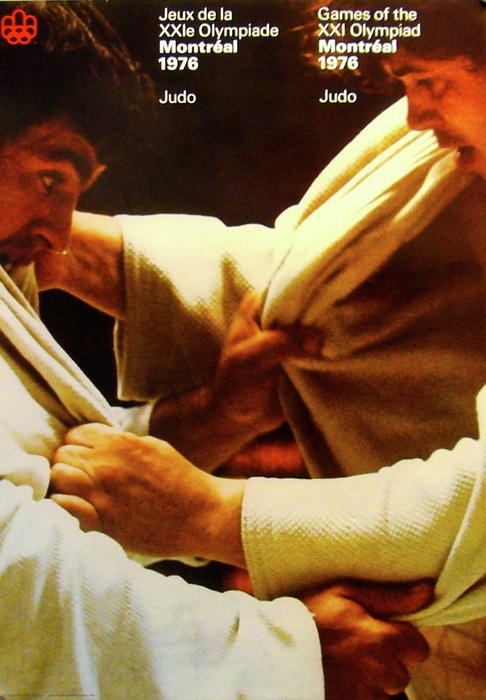 1976 Montreal Olympic Vintage Poster JUDO Painting