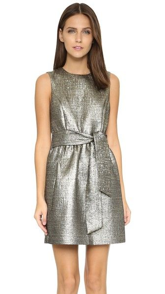 4.collective Sleeveless Metallic Flirty Dress