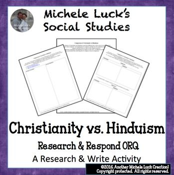 a comparative study of hinduism and christianity Patterns emerge in the comparative study of religious perspectives on  religions , ethics, judaism, christianity, islam, hinduism, buddhism.
