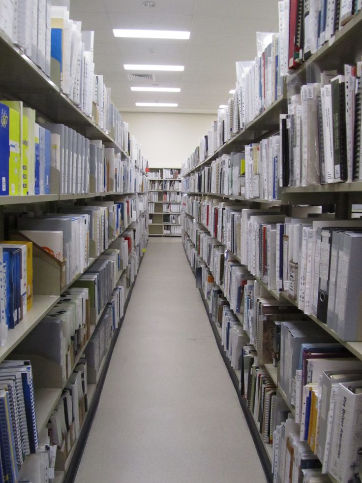 Inside the stacks at the ACT Heritage Library